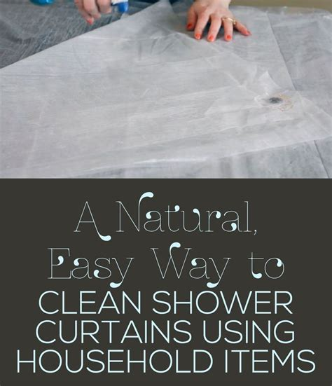 natural way to clean bathroom a natural easy way to clean shower curtains using