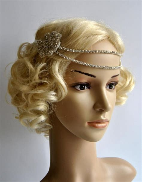 how to make a 1920s hairpiece bridal rhinestone headband 1920s the great gatsby flapper