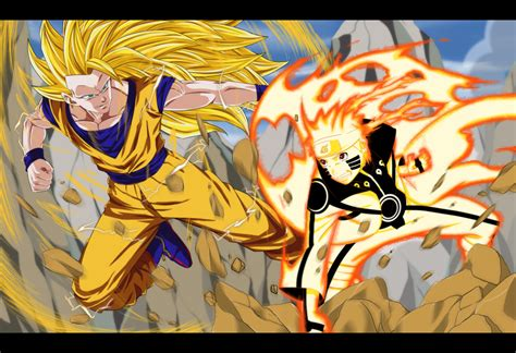 imagenes de up art commission naruto vs goku by dannex009 on deviantart