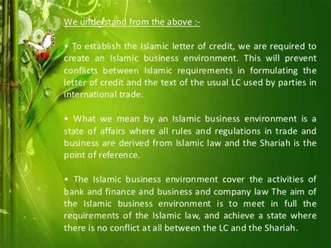 Islamic Credit Letter islamic letter of credit