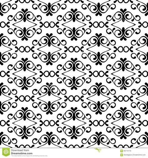 vintage pattern black and white vector vector seamless black and white vintage flourish pattern