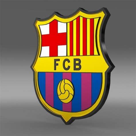 barcelona emblem barcelona football emblem 3d model max obj 3ds fbx c4d lwo