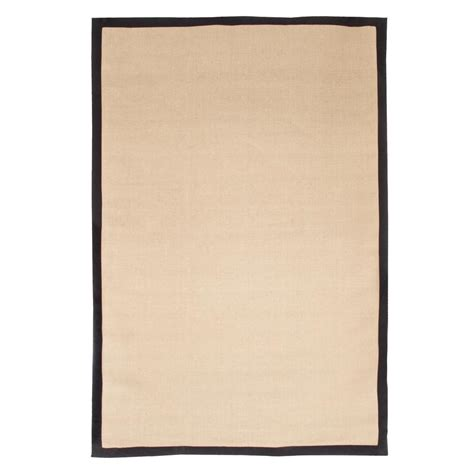 10 x 15 jute rug trademark jute black border 8 ft x 10 ft area rug 62 j