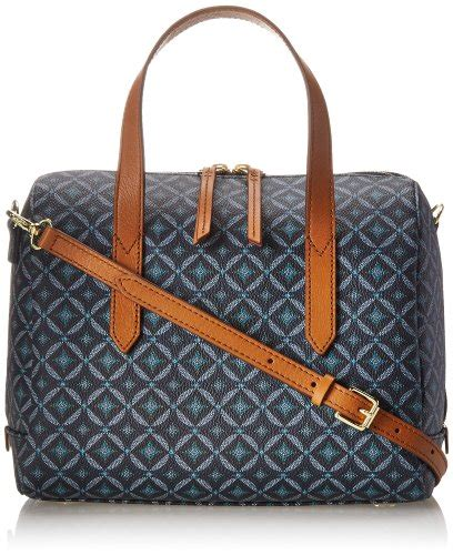 Tas Fossil Sudney Satchel Multi Brown fossil sydney satchel top handle bag blue multi one size robert m bakerter