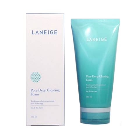 New Laneige Minipore Clearing Cleansing Foam ซ อ laneige pore clearing foam 160ml โฟมล างหน า coszi
