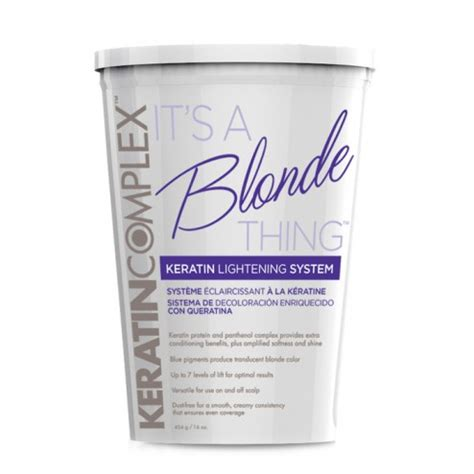keratin over bleach keratin complex it s a blonde thing keratin lightener 16 oz