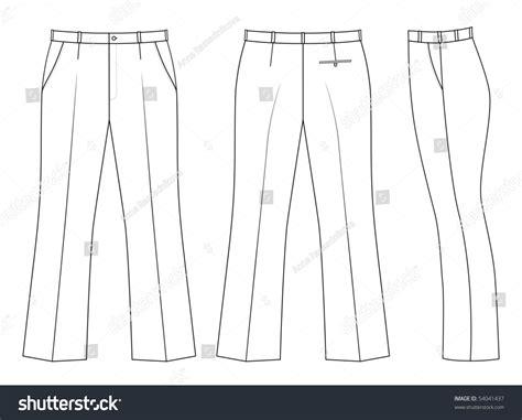 Outline Black White Pants Vector Illustration Isolated On | outline black white pants vector illustration isolated on