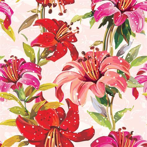 pattern flowers images vivid flower patterns design elements vector 05 vector