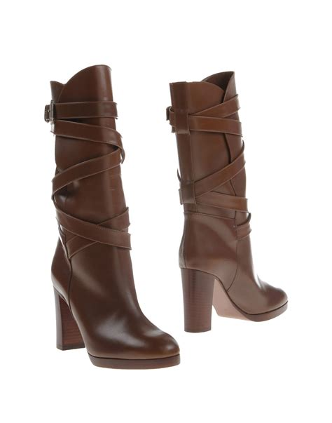 michael kors boots for michael kors boots in brown lyst