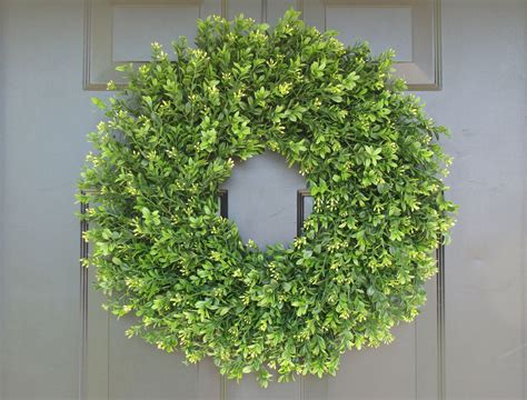 Artificial Wreaths For Front Door Faux Thin Artificial Boxwood Wreath Door Wreaths Front