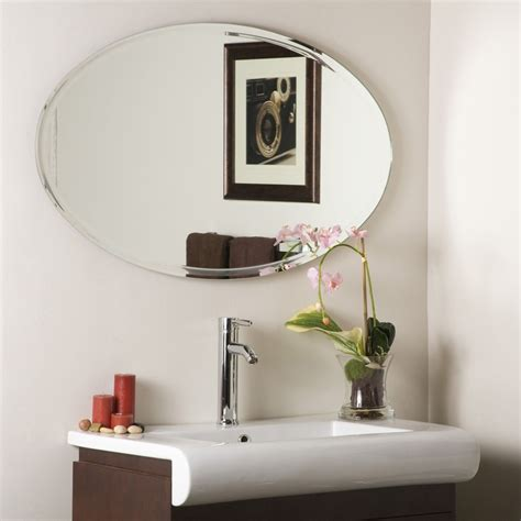 bathroom wall mirrors frameless 17 best images about details ovals on pinterest louis