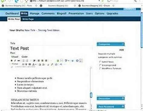 wordpress tutorial embed video wordpress tutorial how to insert text into a wordpress