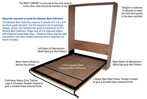 cheap murphy bed frame diy hardware systems murphy bed steel bed frame