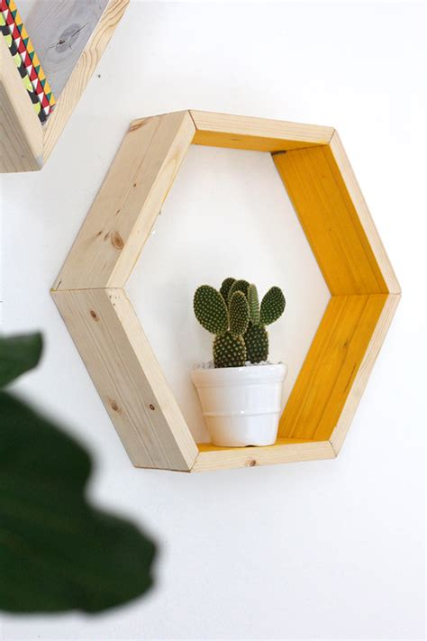 187 my diy hexagon shape shelves