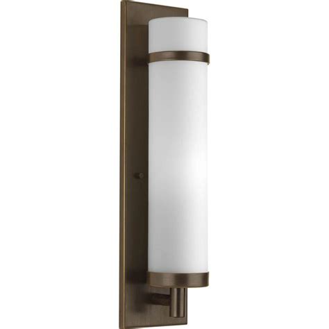 Home Depot Wall Sconces Progress Lighting 1 Light Antique Bronze Fluorescent Wall