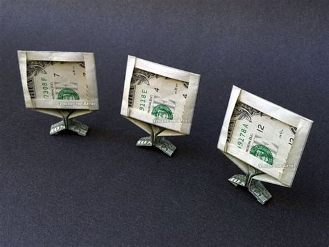 Origami Computer - tv computer monitor dollar origami money dollar origami