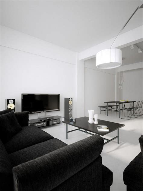 black and room black and white living room design and ideas inspirationseek
