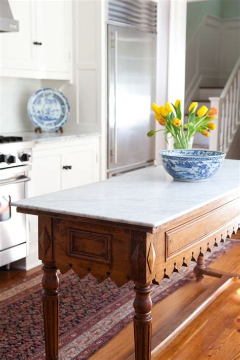 antique kitchen island table 4 tips and 30 ideas to spruce up your kitchen digsdigs
