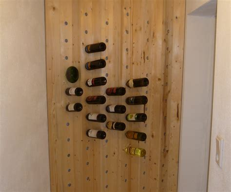 how to make a wine rack in a kitchen cabinet easy to build wine rack 5 steps with pictures