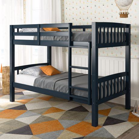 Walmart Canada Bunk Beds Corliving Dakota Navy Blue Painted Wood Bunk Bed Walmart Canada