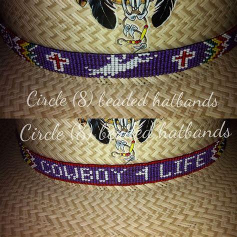 circle 8 beaded hat bands circle 8 beaded hatband quot the bull rider hat band