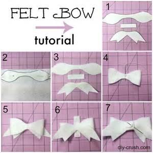 Cute felt bow pattern and tutorial diy crush