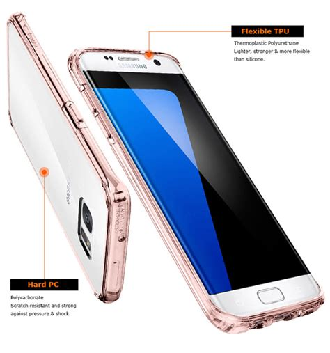 Original Spigen Shell Galaxy S7 Edge Clear spigen clear bumper cell mobile phone cover skin for samsung galaxy s7 edge ebay