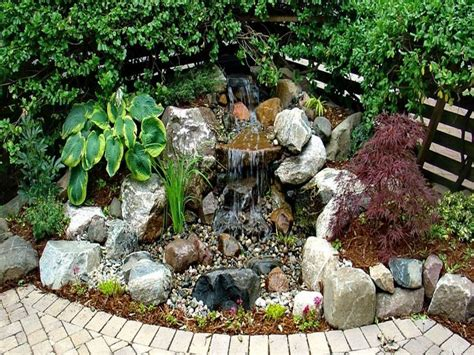 how to make a backyard waterfall small pond with waterfall diy container water fountain how