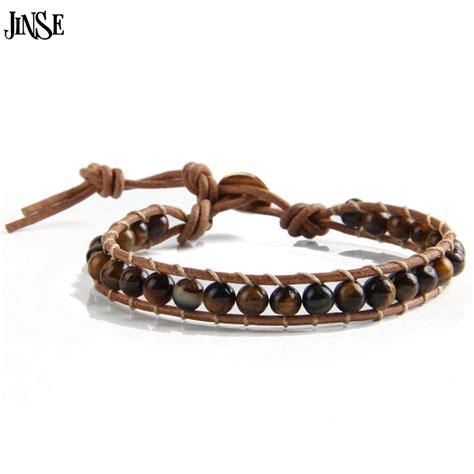 beaded leather bracelet jinse leather bracelet 1 layer