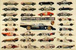 Porsche 911 History Poster Porsche Racing History Racecar Model Color Poster Jpg