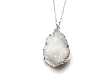 Handmade Jewelry Boutique - white druzy necklace reija jewelry