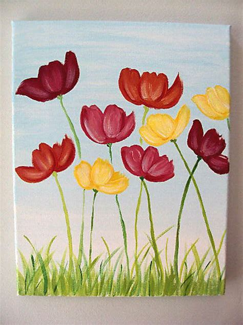 flower for painting best 25 flower canvas ideas on
