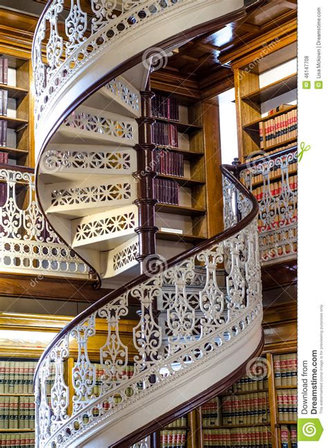 Luxury Mansion Plans spiral staircase at the law library in the iowa state
