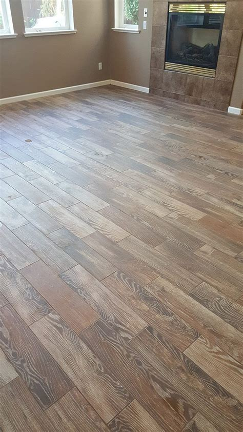 roseville porcelain wood tile flooring installation