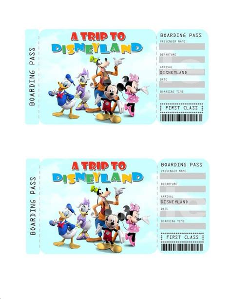 printable disneyland tickets surprise disney tickets printable pictures to pin on