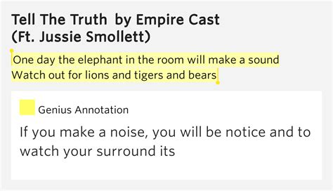 Elephant In The Room Lyrics by One Day The Elephant In The Room Will Make A Sound
