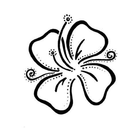 91 hawaiian flowers outline taggedflower tattoo outline