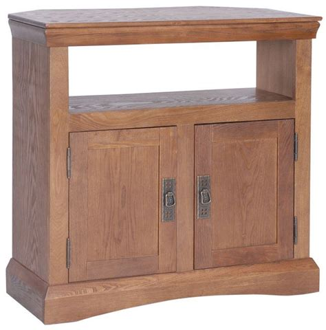 antique corner tv cabinet antique oak effect corner tv cabinet