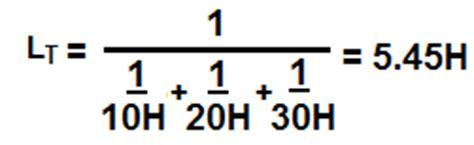 formula for total inductance inductors in series and in parallel