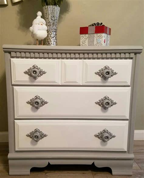 chalk paint gray dresser upcycled repurposed this dresser rustoleum gray
