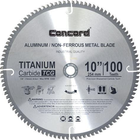 10 inch blade concord blades acb1000t100hp 10 inch 100 teeth tct non