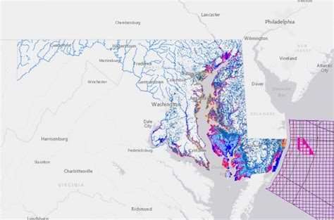 maryland dnr map interactive map of coastal geoscience information in