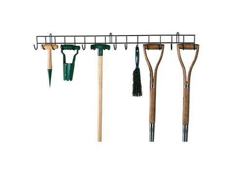 wall hanging tool 1m long hanging rack garden tool green coated finish