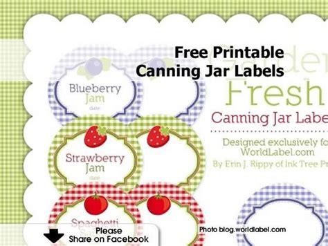 free printable jar labels for home canning jar labels free printable canning jar labels