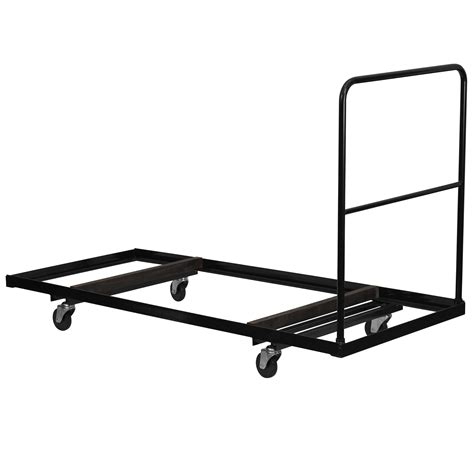 Table Dollies by Flash Black Steel Folding Table Dolly For 30x72