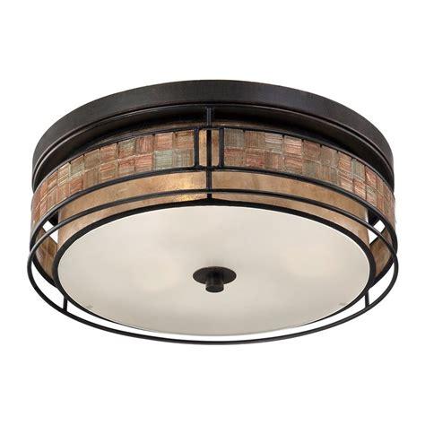 copper flush mount ceiling lights shop quoizel laguna 16 in w renaissance copper flush mount