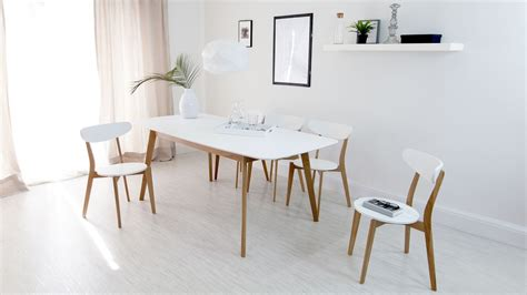 Modern Extendable Dining Table White Amp Oak Kitchen Chairs Wooden Chairs Uk Danetti Uk