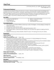 Interest Rate Trader Sle Resume by Fixed Income Sales Assistant Resume