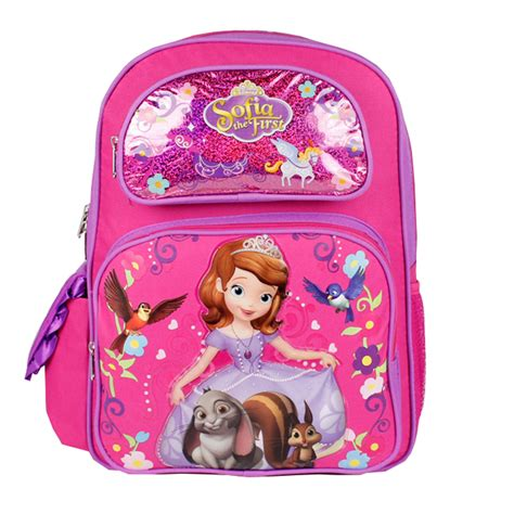 Disney Sofia Large Backpack disney sofia the backpack forest friends 16 quot large