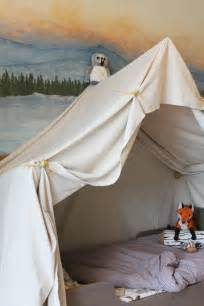 Bed Canopy Boys by Remodelaholic Camping Tent Bed In A Kid S Woodland Bedroom
